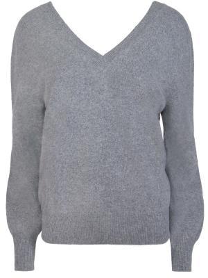 Шерстяной пуловер Victoria Beckham. Цвет: серый