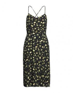 Платье миди CALVIN KLEIN JEANS. Цвет: черный