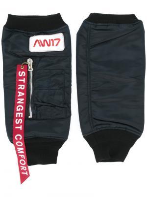 Перчатки с ребристой резинкой Doublet. Цвет: чёрный