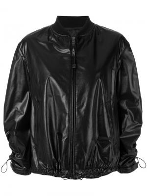 Куртка-бомбер со шнурком Prada. Цвет: чёрный