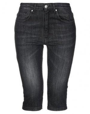 Джинсовые брюки-капри NORA BARTH. Цвет: черный