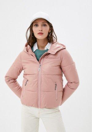 Куртка кожаная Fadjo. Цвет: розовый