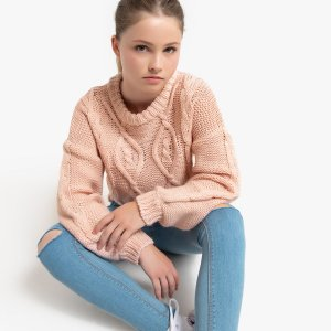 Пуловер La Redoute. Цвет: розовый