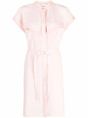 Платье-рубашка Lexie с поясом Stella McCartney. Цвет: розовый