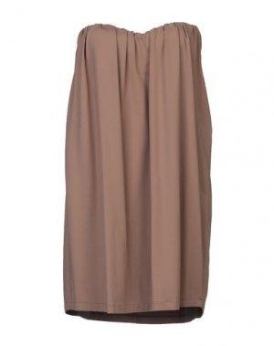 Короткое платье FISICO. Цвет: светло-коричневый