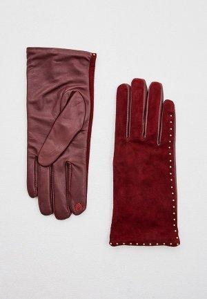 Перчатки Twinset Milano. Цвет: бордовый