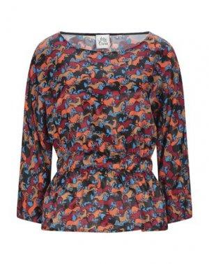 Блузка ATTIC AND BARN. Цвет: лазурный