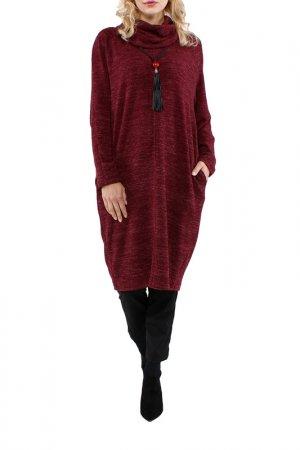 Платье Kata Binska. Цвет: бордовый, меланж