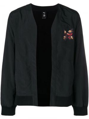 Куртка-бомбер с принтом Puma. Цвет: черный