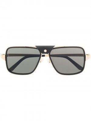 Солнцезащитные очки-навигаторы Cartier Eyewear. Цвет: черный