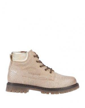 Полусапоги и высокие ботинки BISGAARD. Цвет: песочный