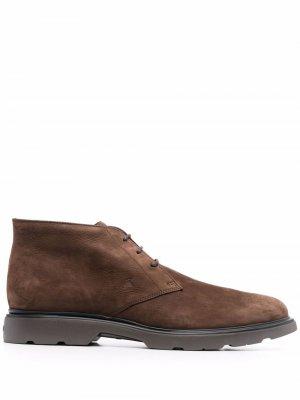Ботинки дезерты Hogan. Цвет: коричневый