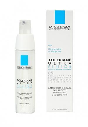 Сыворотка для лица La Roche-Posay TOLERIANE ULTRA FLUIDE. Ежедневная, смягчающая, аллергичной кожи, 40 мл. Цвет: прозрачный