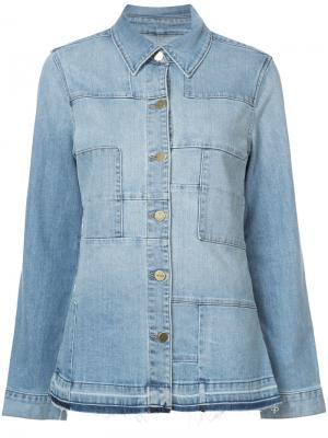 Patchwork denim jacket Frame. Цвет: синий