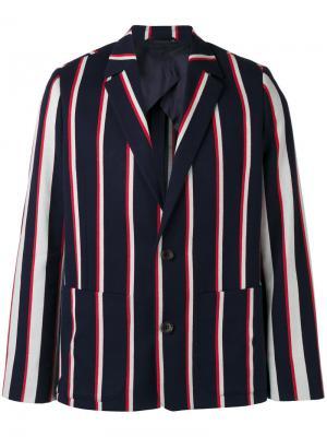 Пиджак 4Ever с полосками Henrik Vibskov. Цвет: синий