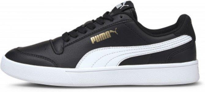 Кеды для мальчиков Shuffle, размер 34.5 Puma. Цвет: черный