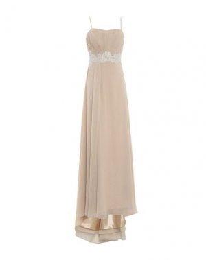 Длинное платье LEXUS. Цвет: бежевый