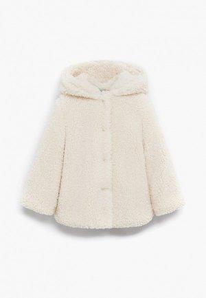 Пальто Mango Kids - SUSI. Цвет: белый