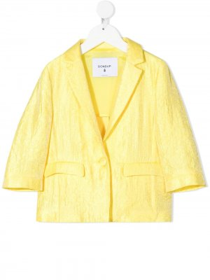 Пиджак с жатым эффектом Dondup Kids. Цвет: желтый