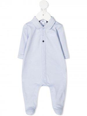 Пижама с логотипом BOSS Kidswear. Цвет: синий