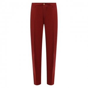 Хлопковые брюки Altea. Цвет: красный