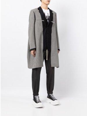 Однобортный пиджак со вставками Comme Des Garçons Homme Plus. Цвет: черный