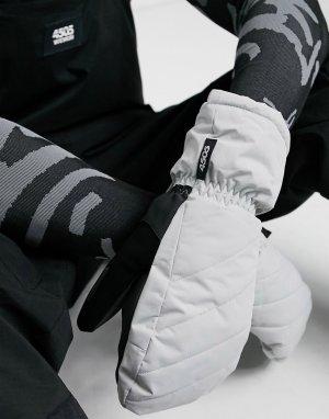 Лыжные стеганые варежки -Серый ASOS 4505