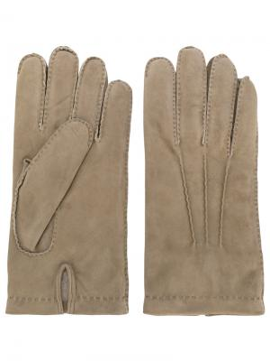Классические перчатки Eleventy. Цвет: телесный