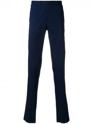 Классические брюки Canali. Цвет: синий