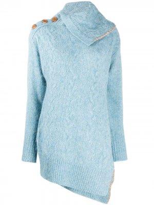 Пуловер Alexis факутрной вязки с высоким воротником Andersson Bell. Цвет: синий