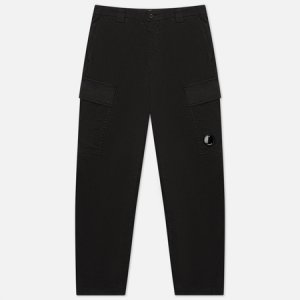 Мужские брюки Stretch Sateen Fitted C.P. Company. Цвет: чёрный