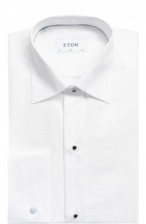 Хлопковая сорочка под смокинг с воротником кент Eton. Цвет: белый