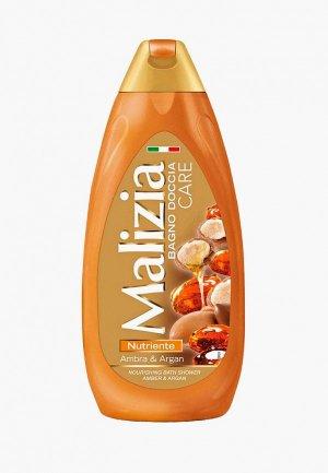 Гель для душа Malizia CARE, янтарь и арган, 500 мл. Цвет: оранжевый