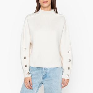 Пуловер со стоячим воротником из трикотажа ASTANA BA&SH. Цвет: экрю