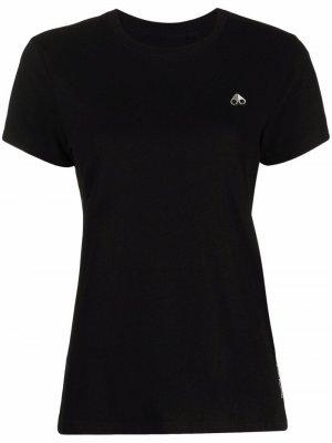 Logo-print short-sleeved T-shirt Moose Knuckles. Цвет: черный