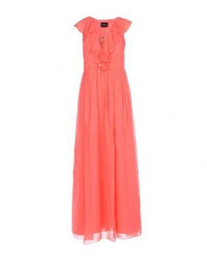 Длинное платье ATOS LOMBARDINI. Цвет: коралловый