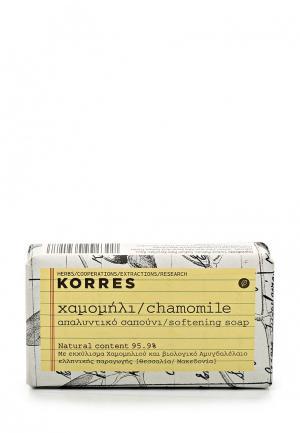 Мыло Korres с ромашкой 125 г. Цвет: белый