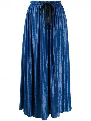 Юбка макси с эластичным поясом Forte. Цвет: синий