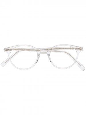 Солнцезащитные очки в круглой оправе Epos. Цвет: белый