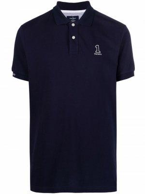 Рубашка поло Number 1 с логотипом Hackett. Цвет: синий