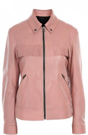 Кожаная куртка Tom Ford. Цвет: светло-розовый
