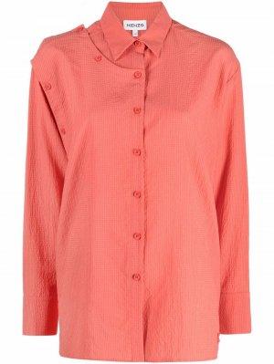 Рубашка со вставками на пуговицах Kenzo. Цвет: розовый