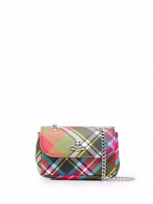 Клатч в клетку Vivienne Westwood. Цвет: зеленый