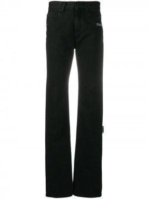 Прямые джинсы средней посадки Off-White. Цвет: черный