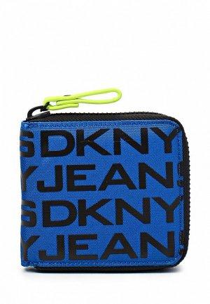 Кошелек DKNY Jeans DK007BWKH117. Цвет: синий