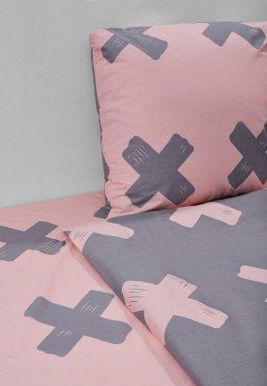 Постельное белье 1,5-спальное Dream Time. Цвет: розовый