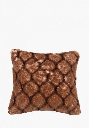 Наволочка декоративная Sofi De Marko 45*45 см. Цвет: коричневый