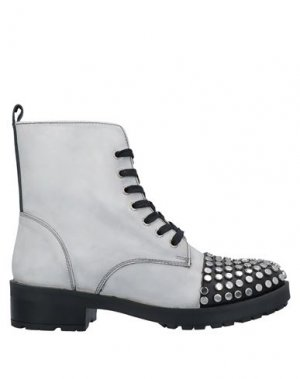 Полусапоги и высокие ботинки APEPAZZA. Цвет: светло-серый