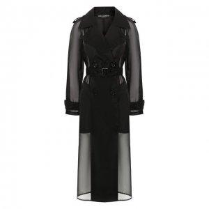 Тренч Dolce & Gabbana. Цвет: чёрный