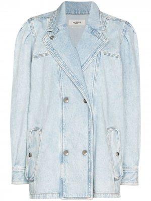 Двубортная джинсовая куртка Lucinda Isabel Marant Étoile. Цвет: синий